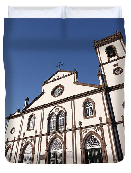 Church In Azores Islands Duvet Cover by Gaspar Avila