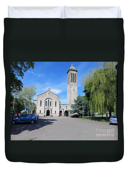 Church In Dunboyne Ireland Duvet Cover by Cindy Murphy - NightVisions