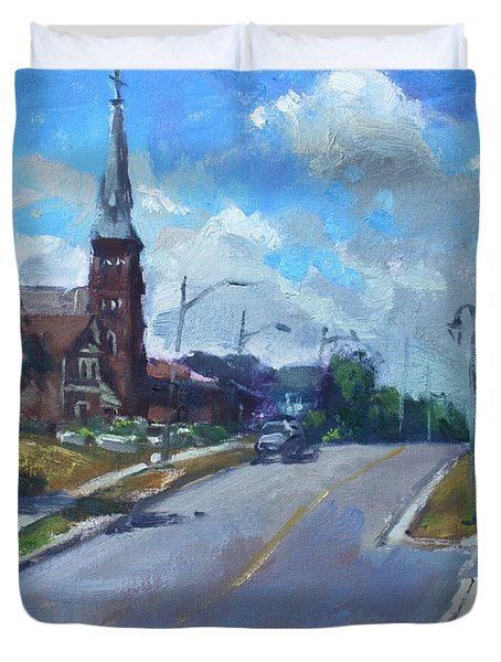 Church In Georgetown Downtown  Duvet Cover