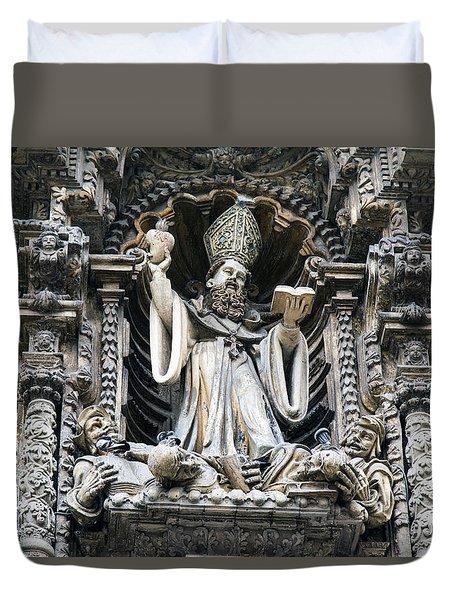 Church In Lima, Peru Duvet Cover