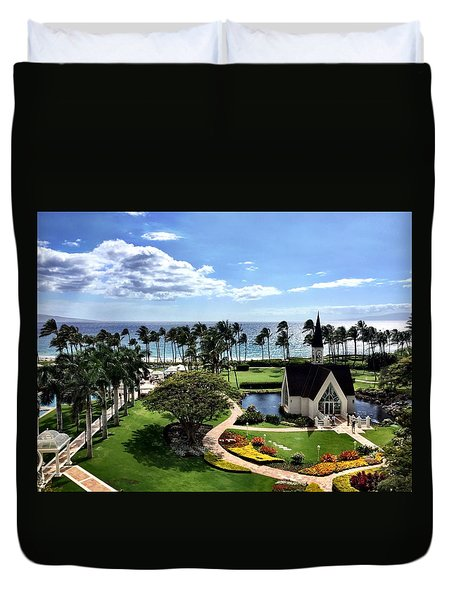 Church In Paradise Duvet Cover