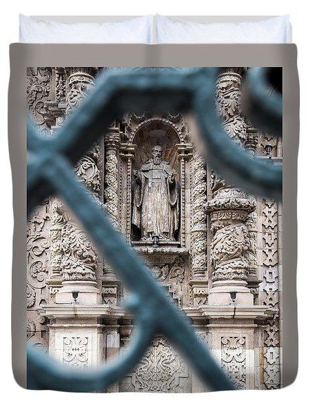 Church In Peru Duvet Cover
