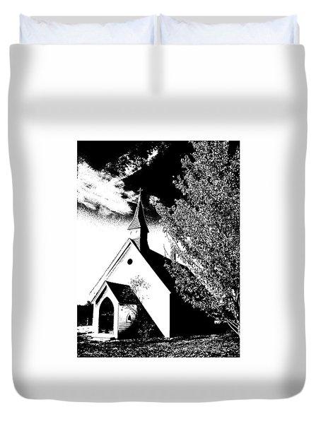 Church In Shadows Duvet Cover
