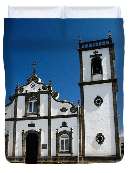 Church In The Azores Duvet Cover by Gaspar Avila
