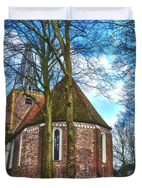 Church In Winsum Duvet Cover