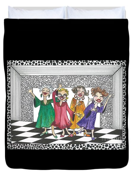 Church Ladies Duvet Cover by Nan Wright