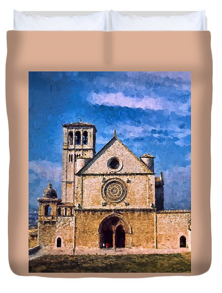 Church Of Assisi Duvet Cover