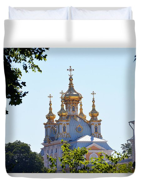 Church Of Grand Peterhof Palace Duvet Cover