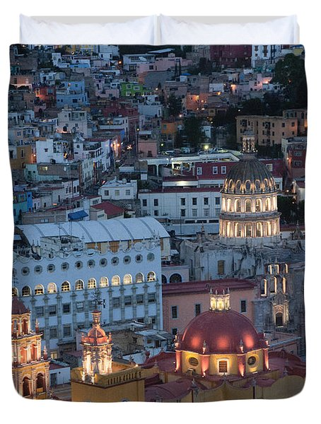 Church Of  Guanajuato Duvet Cover
