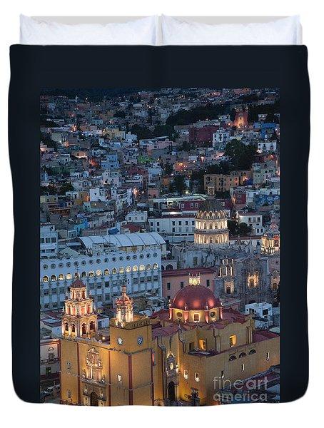 Church Of  Guanajuato Duvet Cover