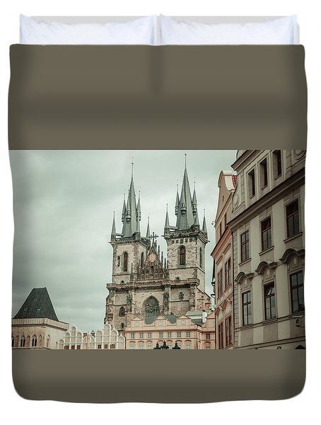 Duvet Cover featuring the photograph Church Of Our Lady Before Tyn by Jenny Rainbow