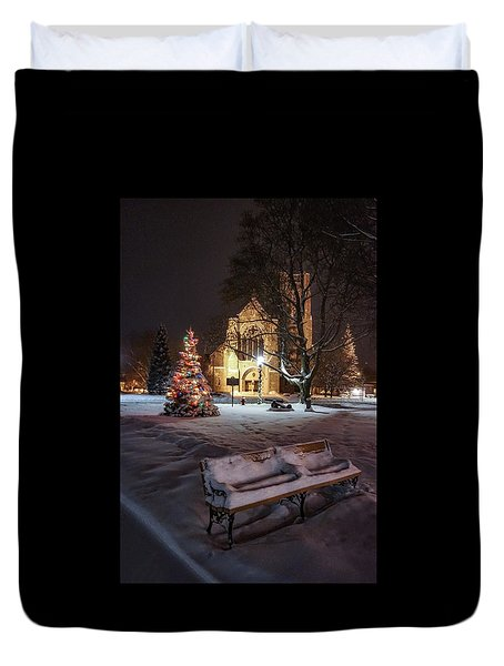 Church Of St Mary St Paul At Christmas Duvet Cover