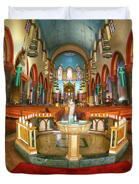 Duvet Cover featuring the photograph Church Of St. Paul The Apostle by Mitch Cat