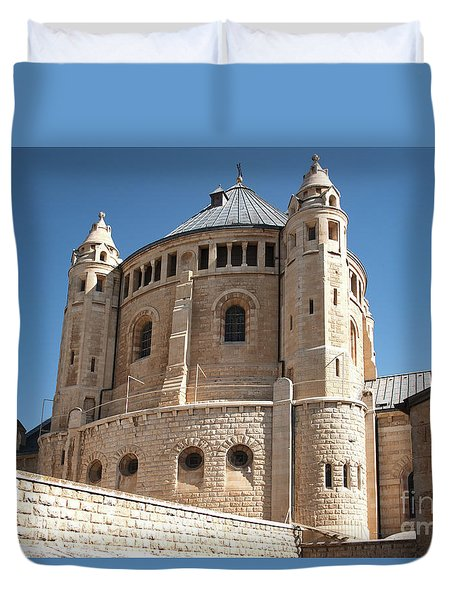 Duvet Cover featuring the photograph Church Of The Dormition by Mae Wertz