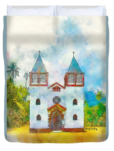 Church Of The Holy Family Duvet Cover