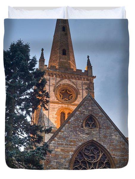 Church Of The Holy Trinity Stratford Upon Avon 4 Duvet Cover by Douglas Barnett