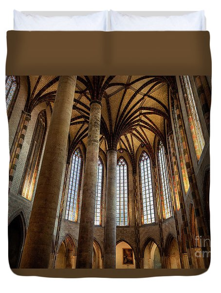 Duvet Cover featuring the photograph Church Of The Jacobins Interior by Elena Elisseeva