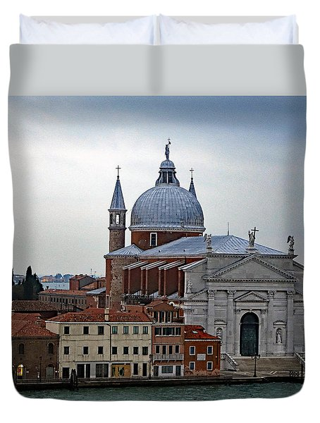 Church Of The Santissimo Redentore On Giudecca Island In Venice Italy Duvet Cover