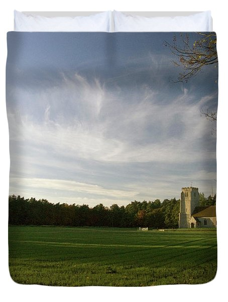 Church On The Edge Of A Forest Duvet Cover