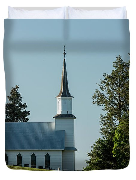 Church On The Hill Duvet Cover