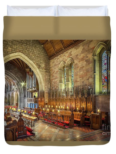 Church Organist Duvet Cover