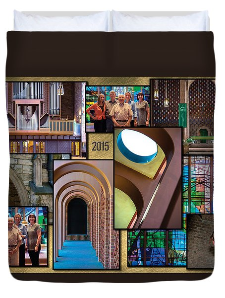 Church Photography Collage Duvet Cover