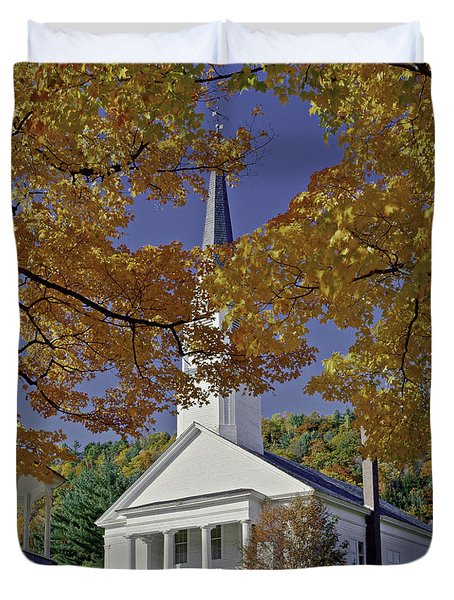 Church, Sharon Vermont Duvet Cover