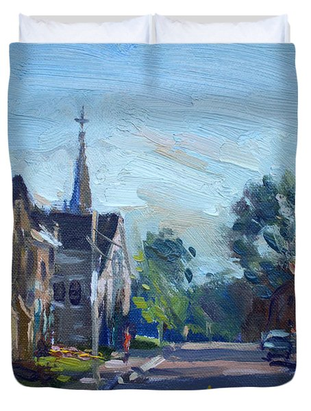Churche In Downtown Georgetown On Duvet Cover