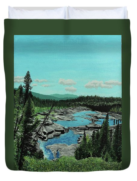 Churchill River Duvet Cover