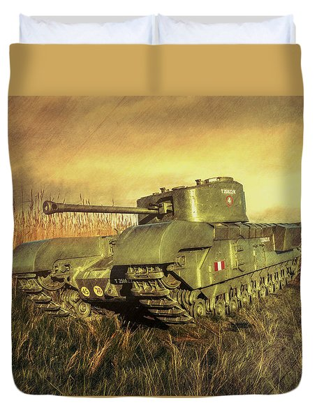 Duvet Cover featuring the photograph Churchill Tank by Roy McPeak
