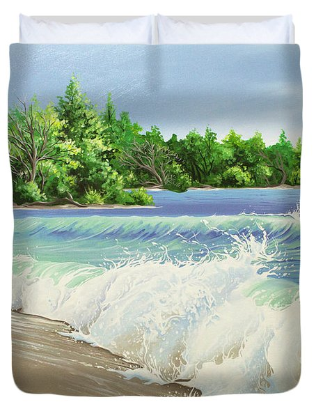 Churning Sand  Duvet Cover