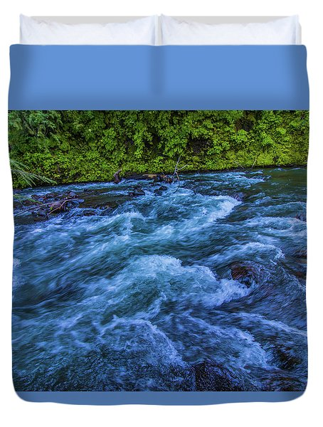 Duvet Cover featuring the photograph Churning Water by Jonny D