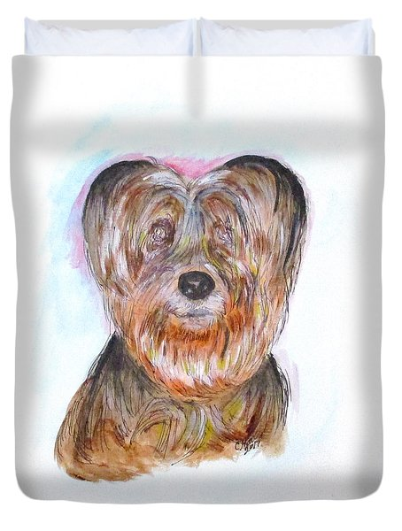 Ciao I'm Viki Duvet Cover by Clyde J Kell