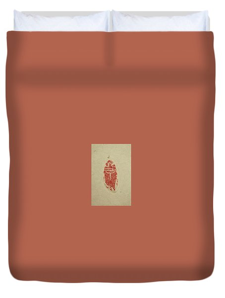 Duvet Cover featuring the painting Cicada Chop by Debbi Saccomanno Chan