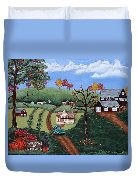 Cider Valley Duvet Cover
