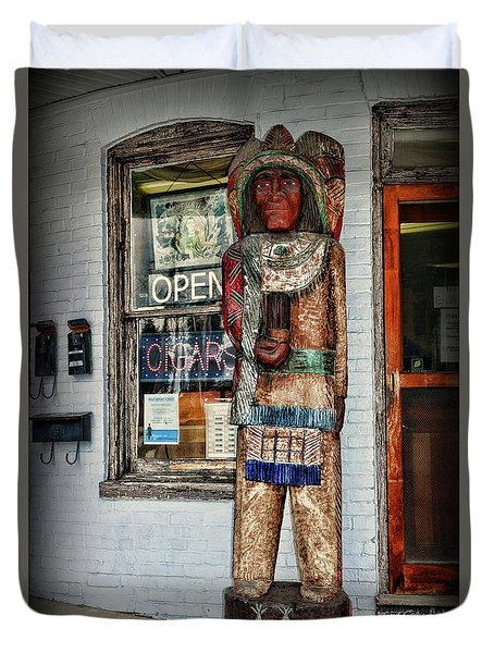 Cigar Store Indian Duvet Cover by Paul Ward
