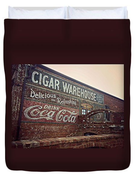 Cigar Warehouse Greenville Sc Duvet Cover