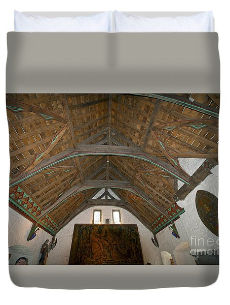 Ceiling In Hall Of Vicars Choral At Rock Of Cashel Duvet Cover by Cindy Murphy - NightVisions