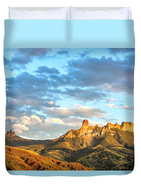 Cimarron Sunset In Autumn Duvet Cover