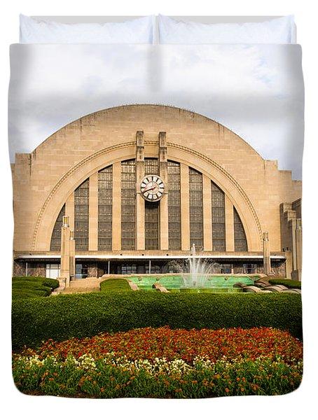 Cincinnati Museum Center At Union Terminal Duvet Cover by Paul Velgos