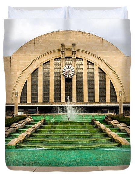 Cincinnati Museum Center Picture Duvet Cover by Paul Velgos