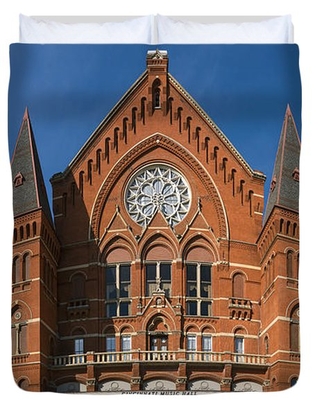 Cincinnati Music Hall Duvet Cover