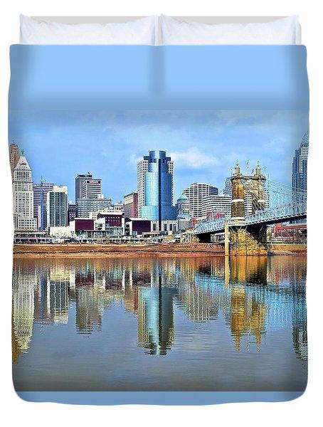 Cincinnati Ohio Times Two Duvet Cover