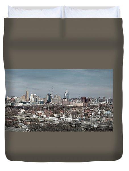 Cincinnati Panorama  Duvet Cover
