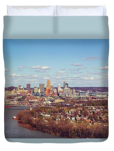 Cincinnati Skyline 2 Duvet Cover by Scott Meyer