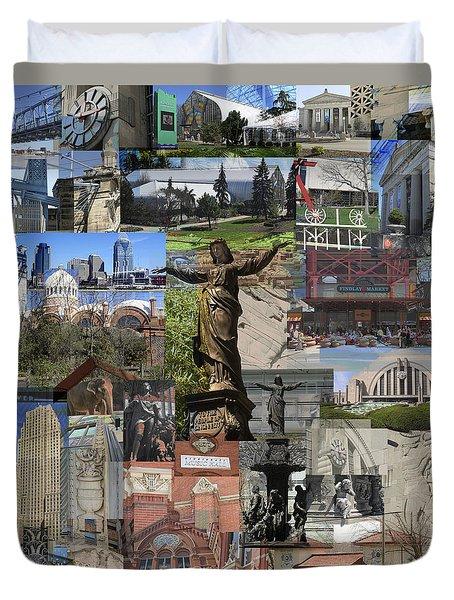 Cincinnati's Favorite Landmarks Duvet Cover