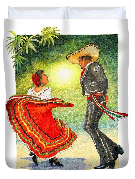 Cinco De Mayo Dancers Duvet Cover