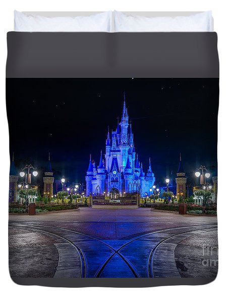 Cinderellas Castle Glow Duvet Cover