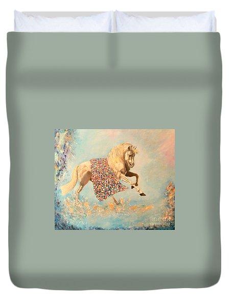 Cinderellas Unicorn Duvet Cover