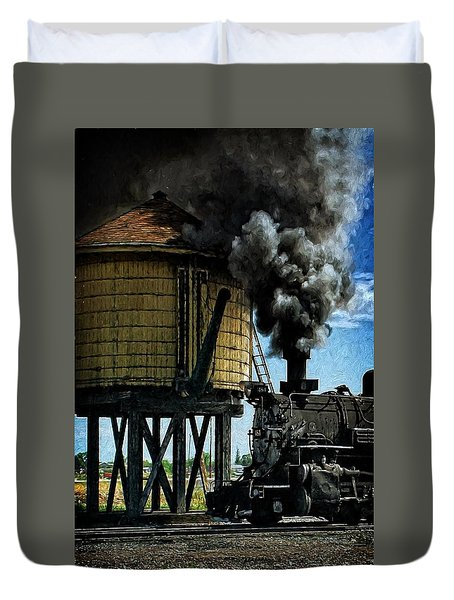 Duvet Cover featuring the photograph Cinders And Water by Ken Smith